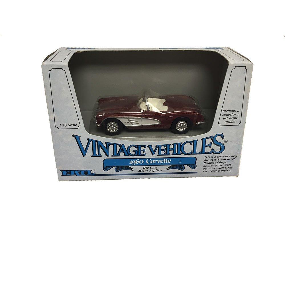 ERTL Vintage Vehicles 1960 Corvette Metal Replica Diecast Models Car 1:43 Scale