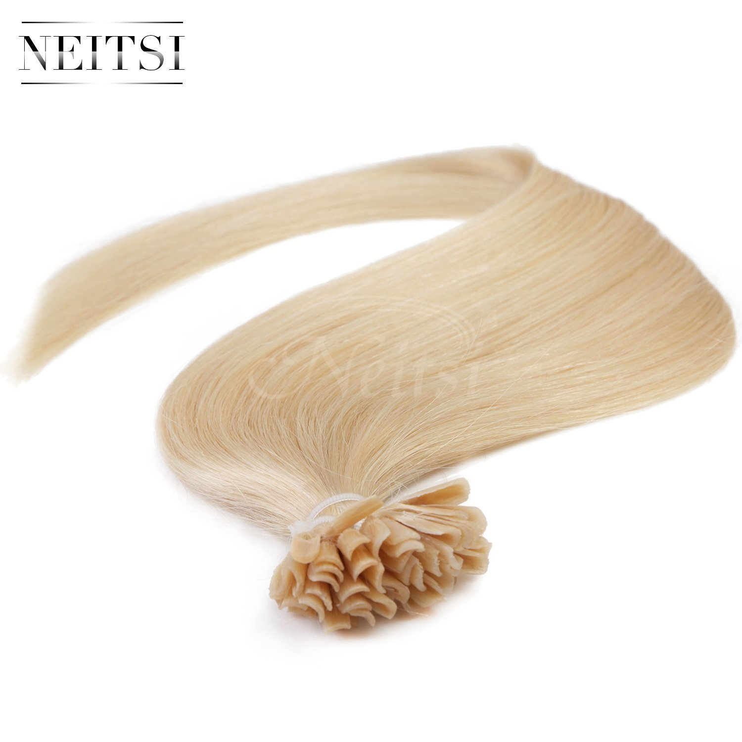 "Neitsi® 20"" 25s/lot 1g/s 100% Remy Human Hair Nail U Tip Hair Extension (24#)"