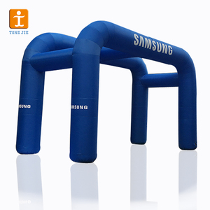 Commercial Short Production inflatable finish line archway balloon arch stand sale