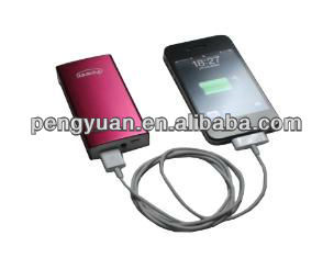 Promotional portable power bank charger &mobile power bank /pack for iphone5/ipad and samsung