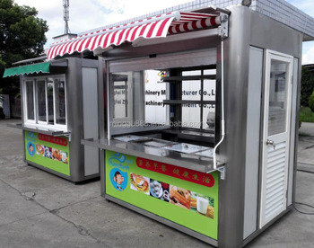 Fast Food Kiosk Street Food Kiosk Barbecue Grill Taco Cart