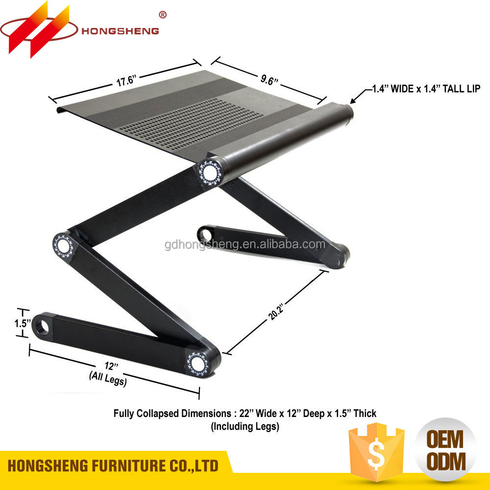 Portable Adjustable Aluminum Laptop Desk/Stand/Table Vented Notebook