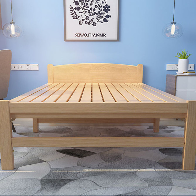Most Popular Bedroom Small Space Solid Wood Folding Bed Manufacturer For Sale