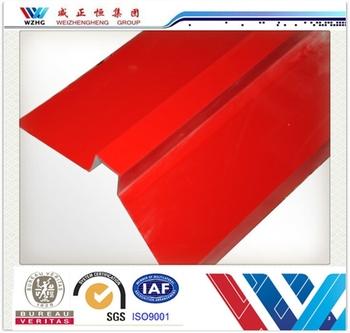Low Cost Metal Roof Ridge Cap Sheet Roof Tin Caps Color Steel Sheet Ridge  For Prefab
