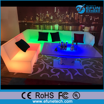 Remote Control Rgb Color Changing Illuminated Sectional Sofa Couch Led Lighted Patio Furniture