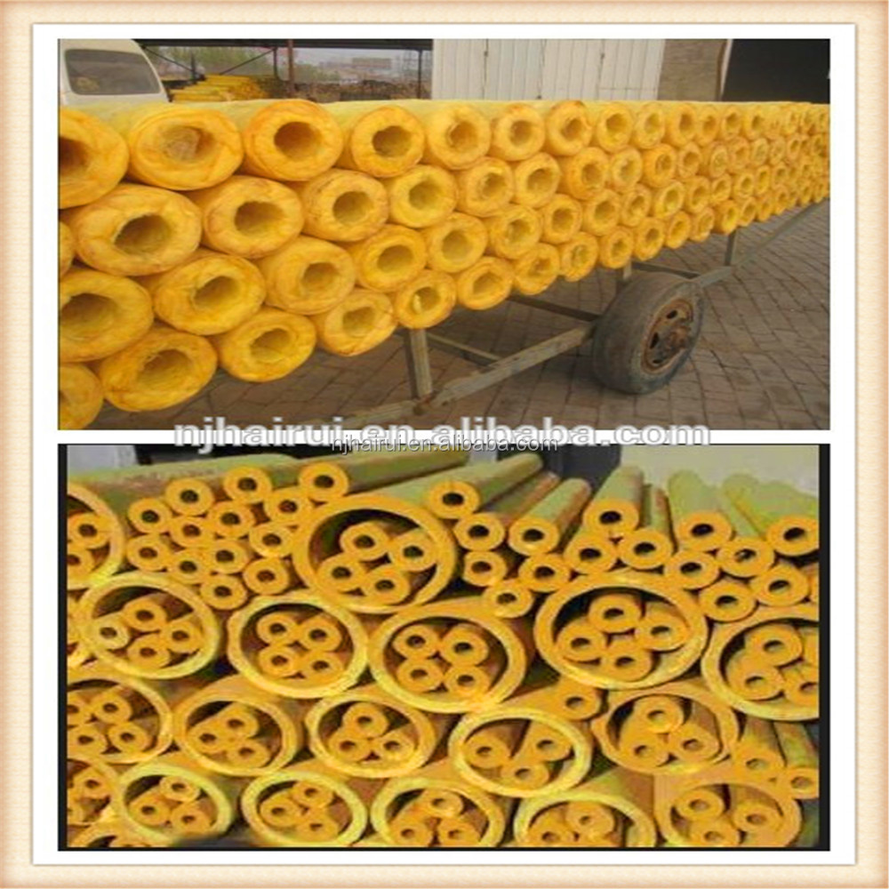 High Quality Glass Wool Pipe Insulation/Fiberglass Wool Tube Price