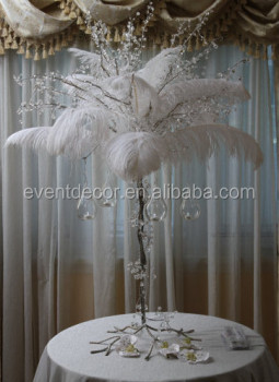 Ostrich Feather Christmas Tree