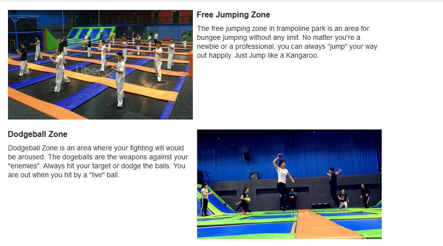 commercial indoor trampoline park with Ninja course new design indoor trampoline