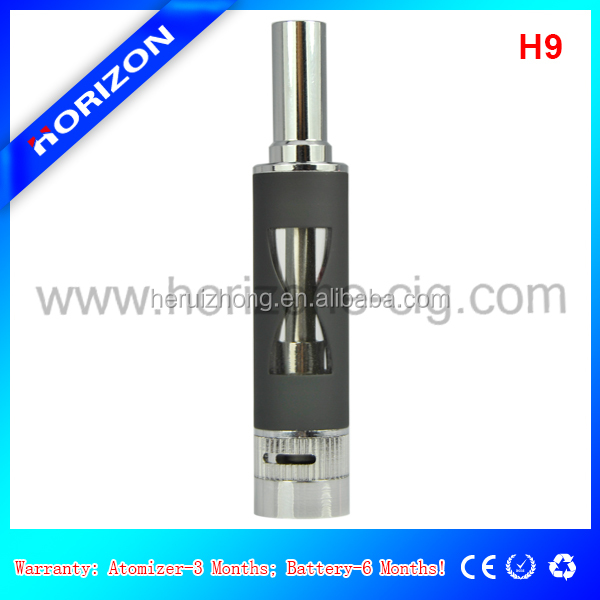 Cheap and high quality airflow control atomizer bottom coil clearomizer H9 from Horizon Tech