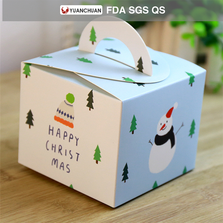 christmas decoration box for cake packaging paper box