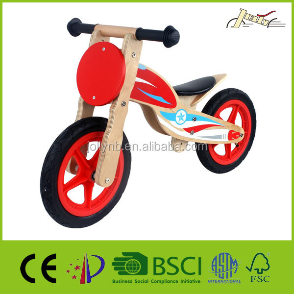 "Nasa Motorcycle 12"" Baby Balance Wooden Bike for Running and Walking Training"