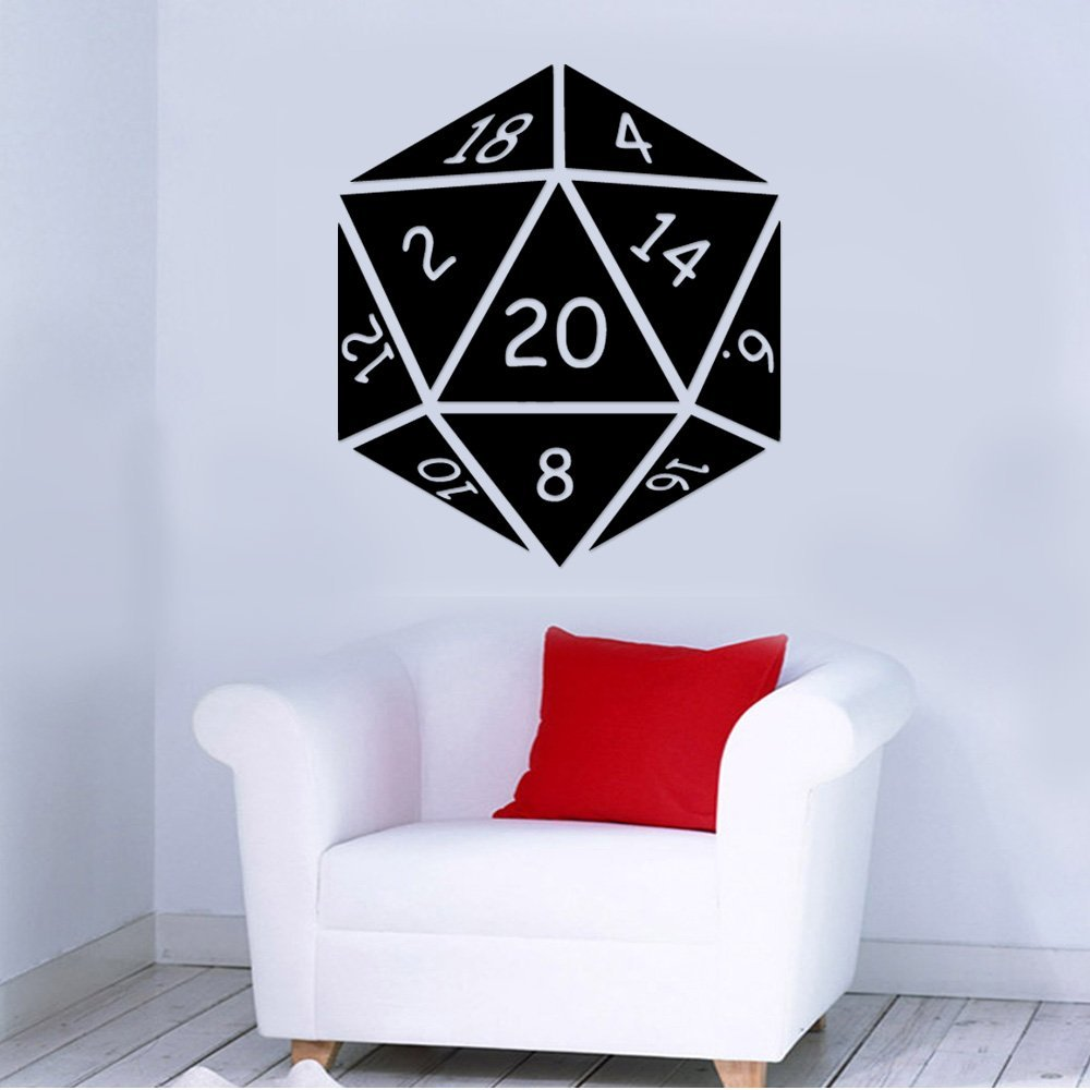 824b2dcc72c Get Quotations · RPG Dice Role Playing Game Removable Wall Sticker Art Home  Office Room Mural Decor Vehicle Car