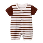 LTY1820 Smart Bear and Football clothes Infant Clothes Combed Cotton 0-3 Months New Born Baby Wholesale