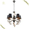 Shop Now!Chandelier Crystals Pendant Light E14 Black Color Decorative Fancy Light Metal/Cloth Indoor Lighting