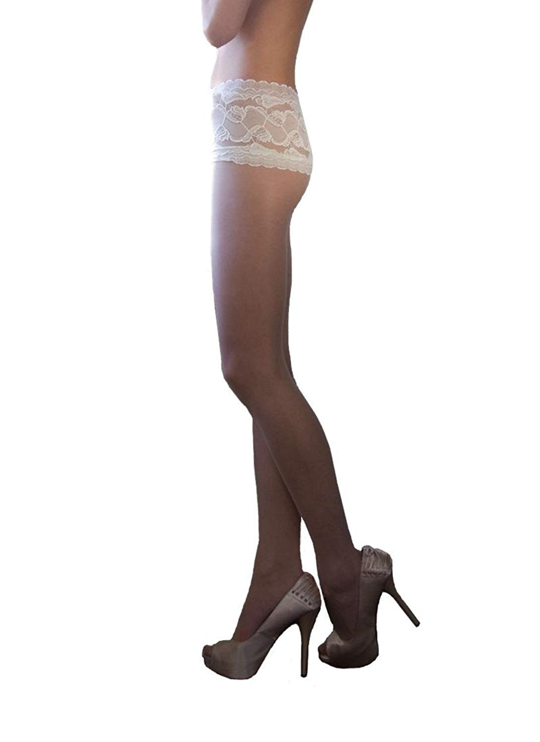 2d040c78579 Couture Soft   Sheer Bridal Lace Top Knickers Tights Underwear 15 Denier US
