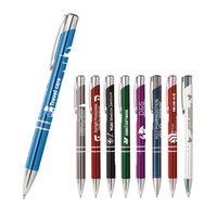 Advertising Souvenir China Bulk Products Blue Black Ink Personalised Metal Pens With Custom Logo