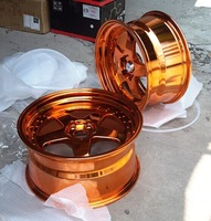 gold chrome rim MGI wheels