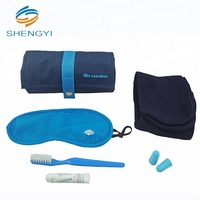 Mini personalized travel sleeping essential airline amenity comfort kit goods