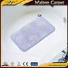 Pattern EPVC anti skid bath tub mat with suction cups