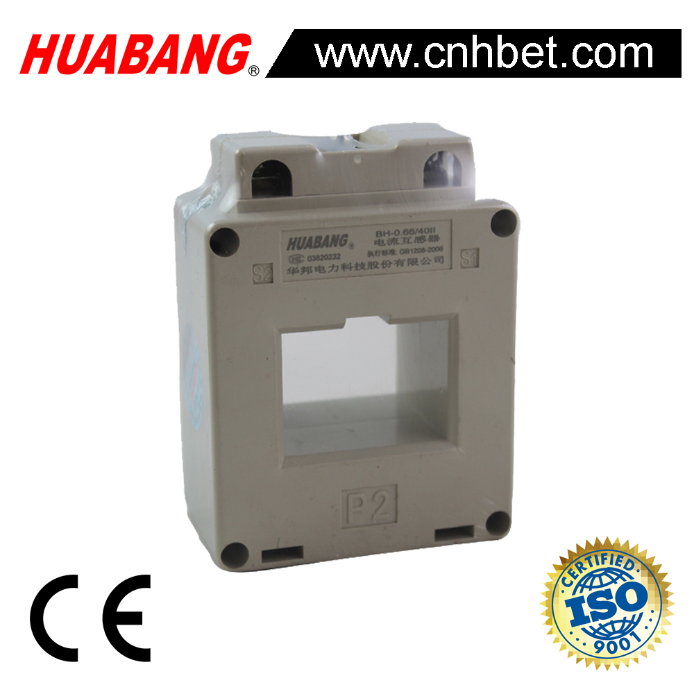 BH-0.66 5A, 0.66kv, current transformer for energy meter, class 0.5/0.2, two bars generatrix