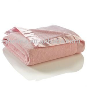 Solid Fleece Blanket With Satin Trim Buy Solid Fleece Blanket