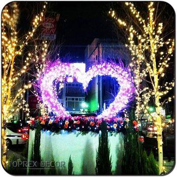 Outside Christmas Lights.Led Yard Christmas Decorations Heart Shape Outside Christmas Lights Wedding Metal Arch Buy Outside Christmas Lights Yard Christmas
