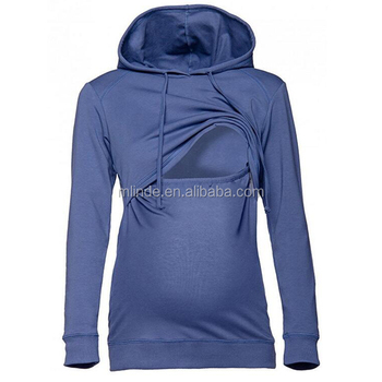7a7cf25fccff0 Fashion xxxxl Hoodies Heavyweight Cotton Nursing Hoodie Breastfeeding Top  Sweatshirt For Maternity Casual