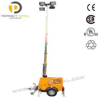 Mobile Light Tower With Diesel Engine