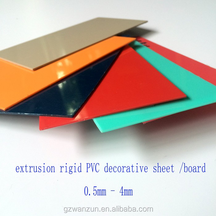 90 degree bendable off whit color PVC extrusion rigid PVC core sheet 4 x 8