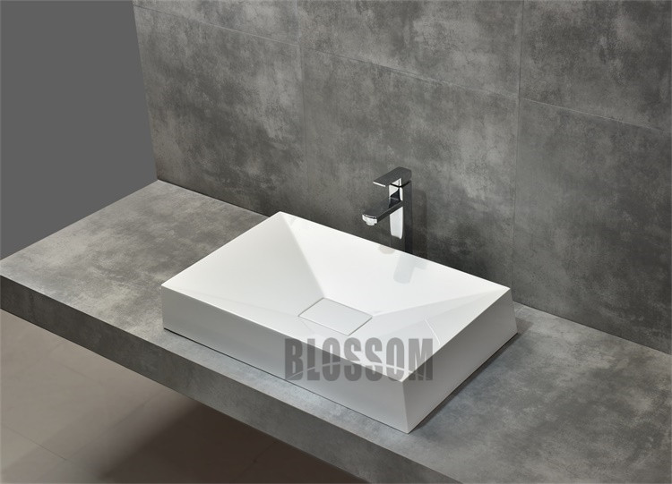 Hot Sale Classic Design High Quality Resin Wash Basin