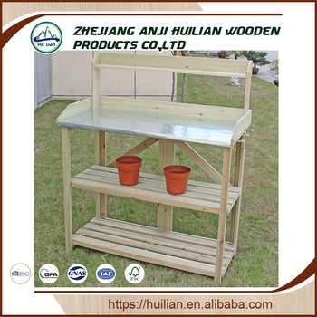 Astounding Hl344 Potting Bench Outdoor Garden Work Bench Station Planting Solid Wood Construction View Potting Bench Huilian Product Details From Zhejiang Anji Andrewgaddart Wooden Chair Designs For Living Room Andrewgaddartcom