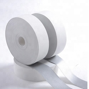 FR treated cotton silver reflective flame retardant fabric tape from China