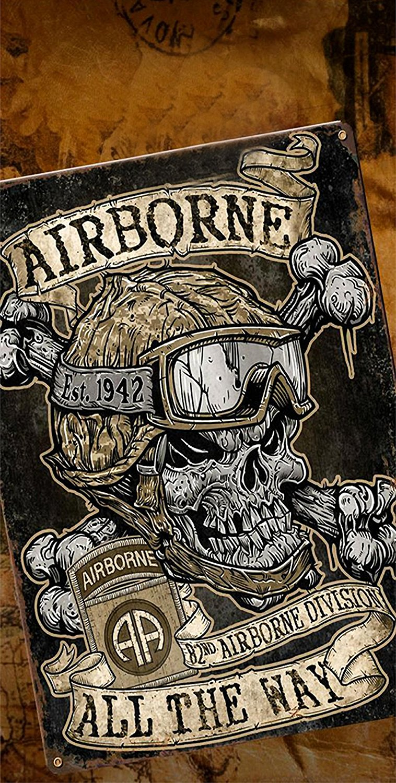 Airborne All The Way Wrap Cornhole Decal Wrap Set 3M Laminated Vinyl Prints