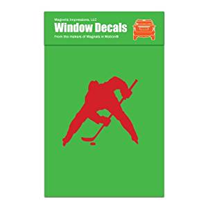 Ice Hockey Player Face Off Car Window Decal