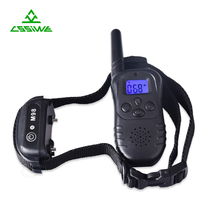 Electronic remote shock collar for dogs with LCD remote bark control