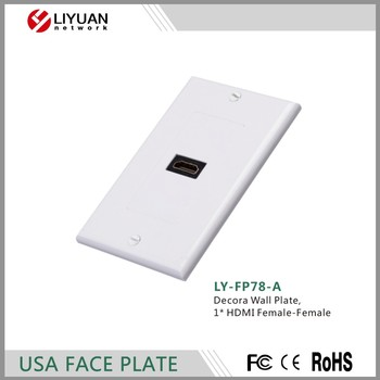 LY-FP78-A Decora Wall Plate 1* HDMI Female-Female USA type wall face plate