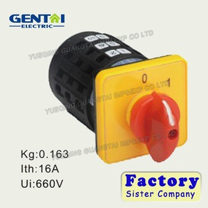 Best Sale cam operated rotary switch manufacturer 4P 20a rotary selector switch