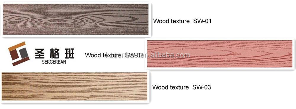Wpc esterno impermeabile pavimentazione decking wpc decking