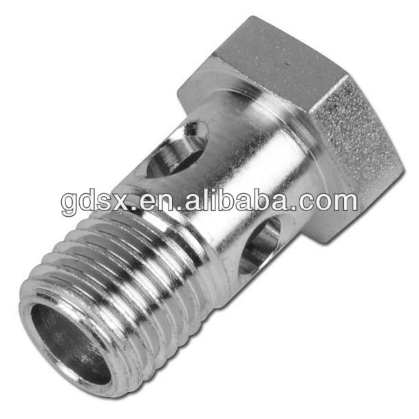 factory price precison made hot selling customized shiny polished stainless steel cnc machining banjo bolt manufacturers