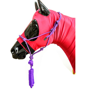 Deluxe Tied Horse Halter with 8' Lead