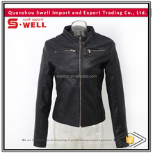 2016 wholesale custom cheap motorcycle pu lady jacket