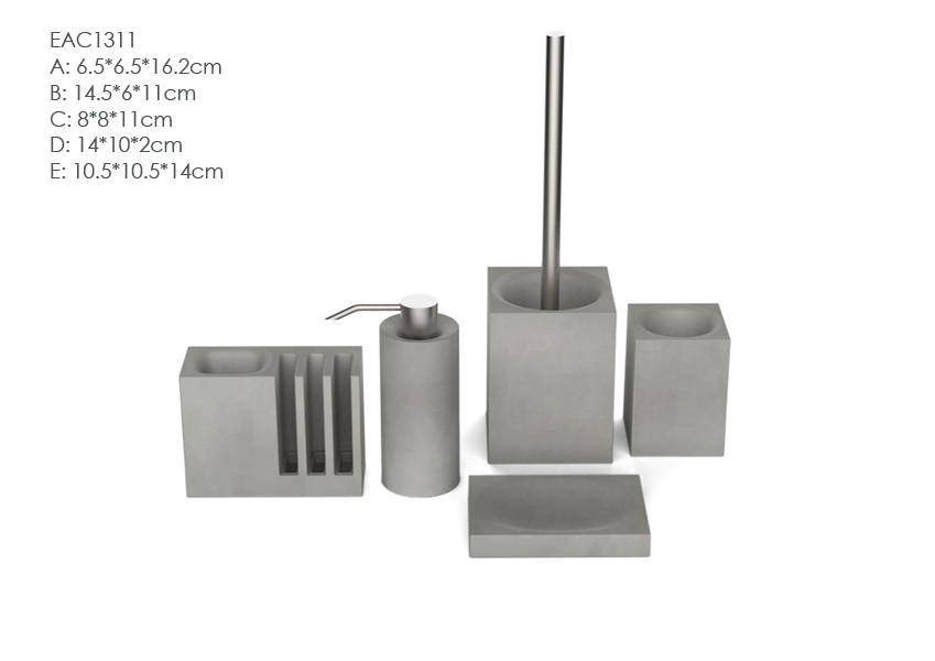 Set Da Bagno Moderno : Gres cemento bianco all ingrosso della resina accessori da bagno