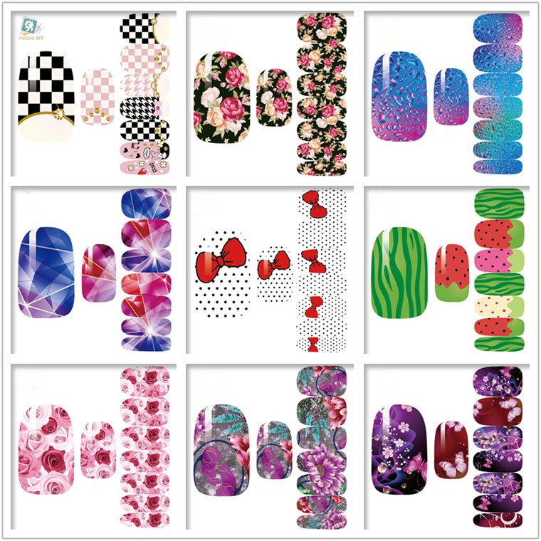 Becautiful Water Transfer Stamping Printing Nail Water Decal Stickers1000 Stock Nail Art Designs