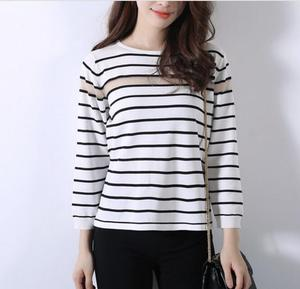 china manufacturer custom ladies striped pullover sweater