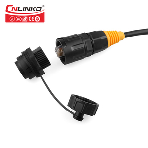 Waterproof Amp Panel Mount 8p8c Gold Plated Ethernet Bulkhead RJ45 Connector Cat6 RJ45 Jack Connectors