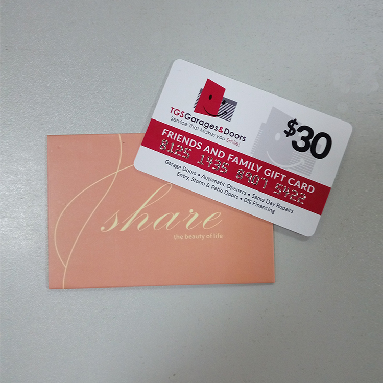 Paper holder/envelope packing membership card pvc gift card pvc plastic cards