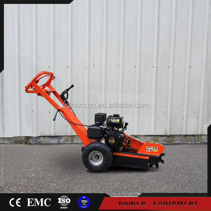 Germany Wan Exhibition invited 9 teeth Honda GX390 gasoline powered stump grinder for sale