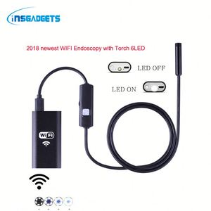 2018 trending wifi snake endoscope camera Qs1h0t portable video industrial borescope with 6 LED/8 LED