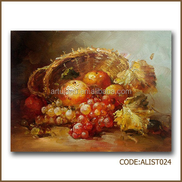 Oil painting still life of pomegranate