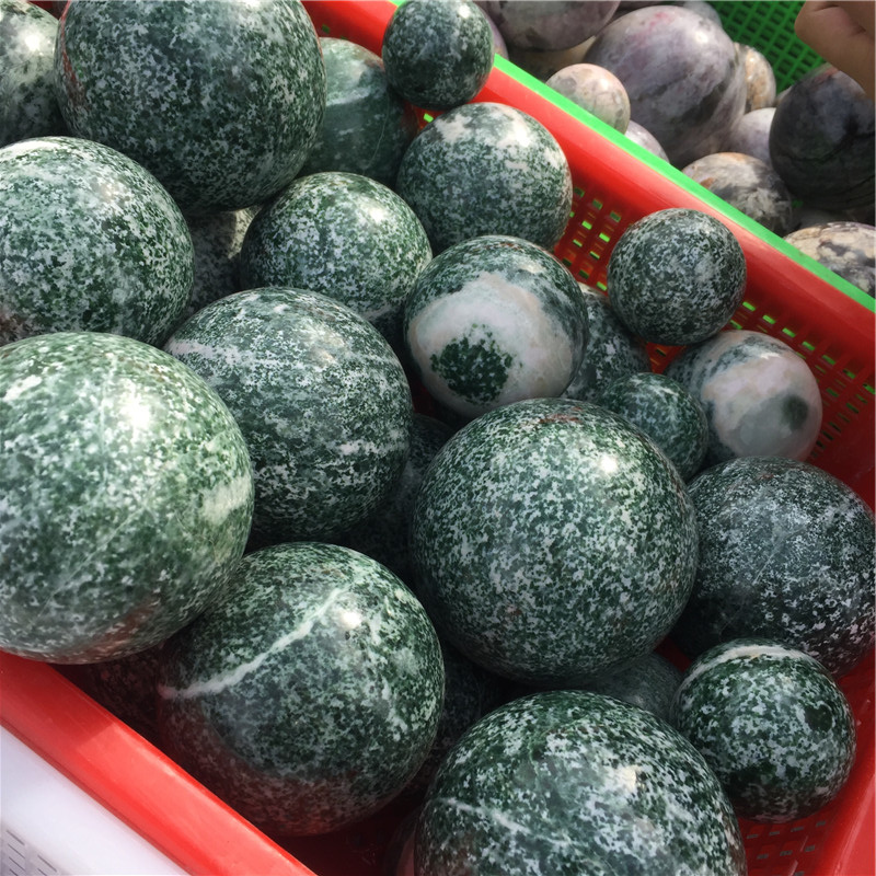 New Product 2019 Qinghai Jade Sphere Polished Stone Ball For Sale
